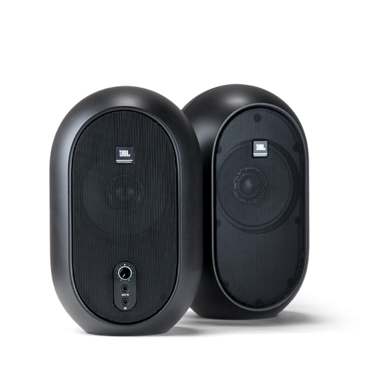 JBL 104 (Pair) - Black - Compact Powered Desktop Reference Monitors - Hero