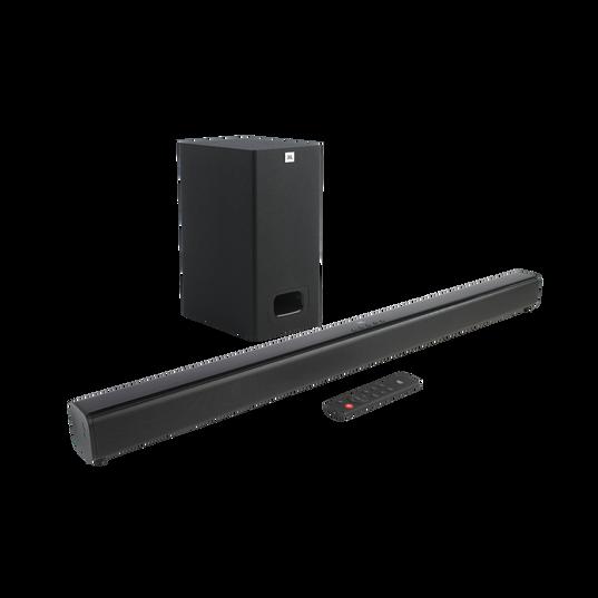 JBL Cinema SB130 - Black - 2.1 Channel soundbar with wired subwoofer - Hero