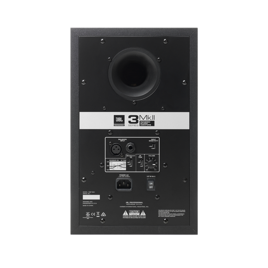 "JBL 306P MkII - Black - Powered 6"" (15.24 cm) Two-Way Studio Monitor - Back"