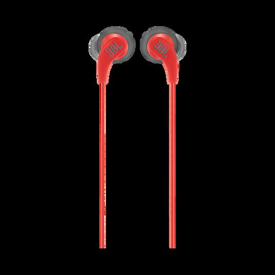 JBL Endurance RUN - Red - Sweatproof Wired Sport In-Ear Headphones - Front