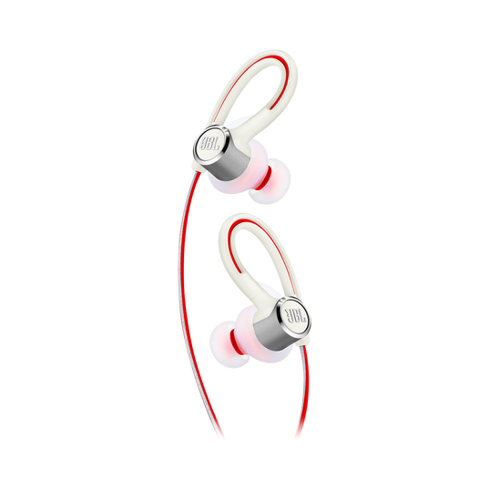 JBL Reflect Contour 2 - White - Secure fit Wireless Sport Headphones - Detailshot 1