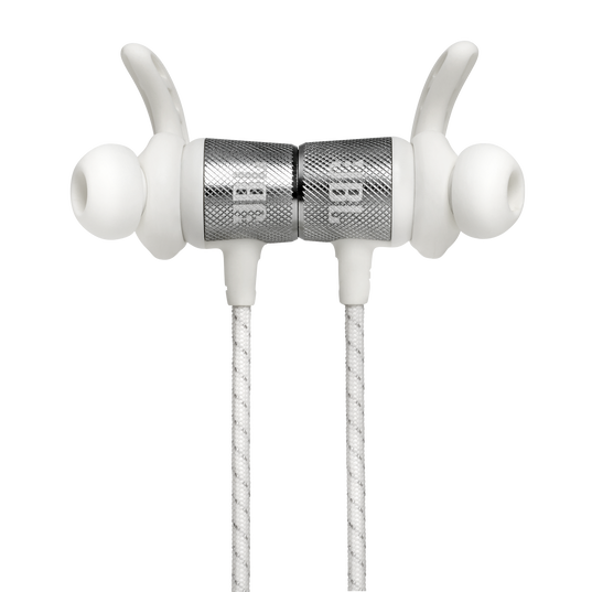 UA Sport Wireless REACT - White - Secure-fitting wireless sport earphones with JBL technology and sound - Detailshot 1