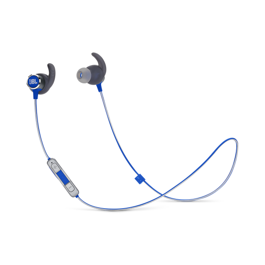 JBL REFLECT MINI 2 - Blue - Lightweight Wireless Sport Headphones - Hero
