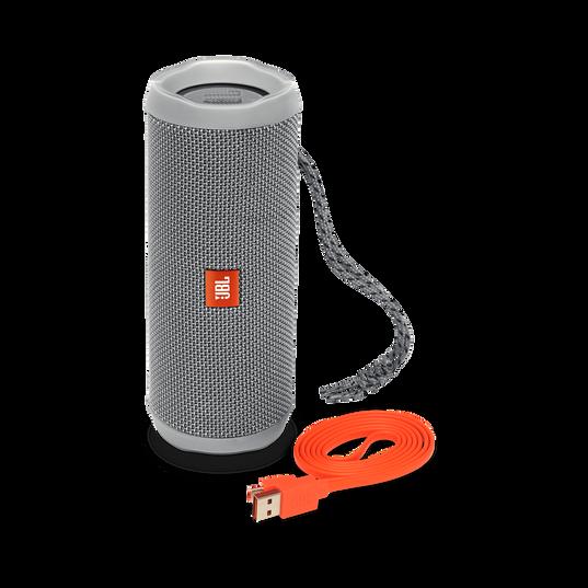JBL Flip 4 - Grey - A full-featured waterproof portable Bluetooth speaker with surprisingly powerful sound. - Detailshot 1