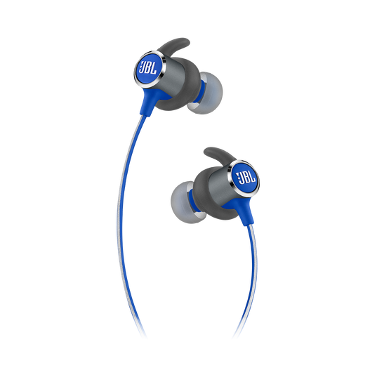 JBL REFLECT MINI 2 - Blue - Lightweight Wireless Sport Headphones - Detailshot 2