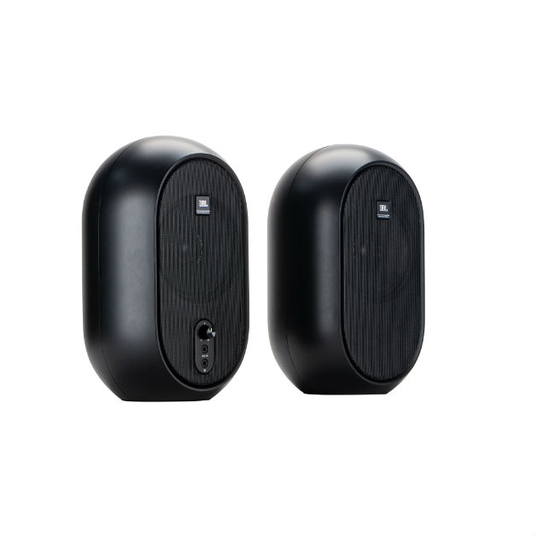 JBL One Series 104 (Pair) - Black - Compact Powered Desktop Reference Monitors - Detailshot 15
