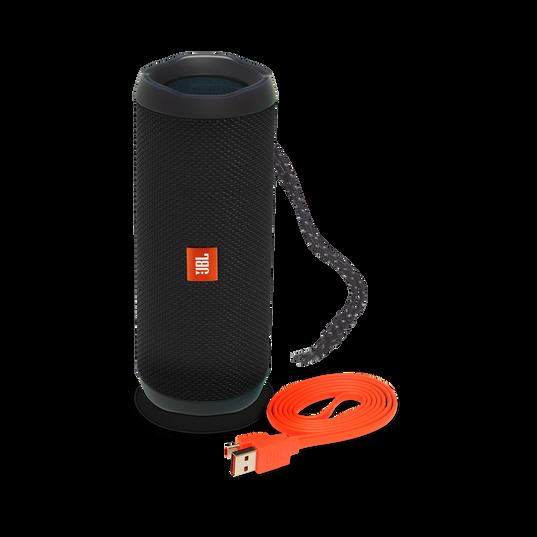 JBL Flip 4 - Black - A full-featured waterproof portable Bluetooth speaker with surprisingly powerful sound. - Detailshot 1